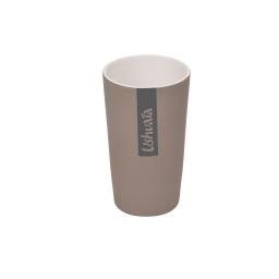 gobelet ceramique effet soft touch theme bora bora taupe - licence ushuaia