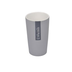 gobelet ceramique effet soft touch theme hanoi gris - licence ushuaia