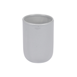 gobelet ceramique vitamine gris clair