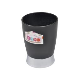 gobelet noir chromé - licence d&co