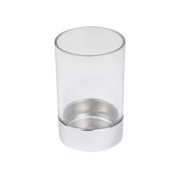 gobelet plastique chromé