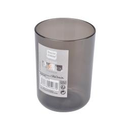 gobelet plastique translucide vitamine noir
