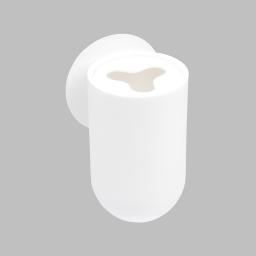 gobelet porte brosse a dent ventouse plastique vitamine blanc