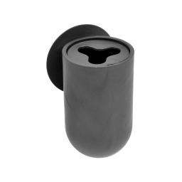 gobelet porte brosse a dent ventouse plastique vitamine noir