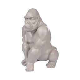 gorille en polyresine taupe h.41*l.29.5*p.26cm