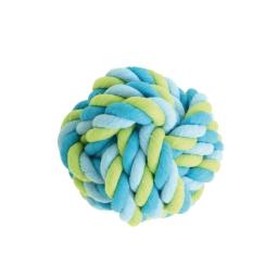 grande balle en corde pour chien - tricolore - ø15cm