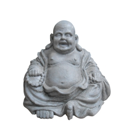 happy bouddha h21cm gris