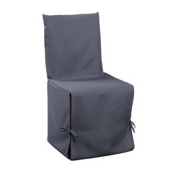 Housse de chaise nouettes 50 x 50 x 50 cm polyester uni essentiel Beton