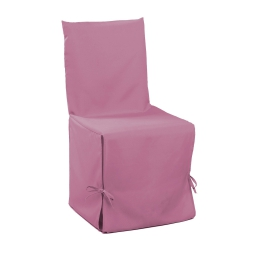 Housse de chaise nouettes 50 x 50 x 50 cm polyester uni essentiel Dragee