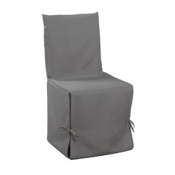 Housse de chaise nouettes 50 x 50 x 50 cm polyester uni essentiel Gris