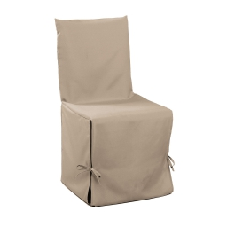 Housse de chaise nouettes 50 x 50 x 50 cm polyester uni essentiel Lin