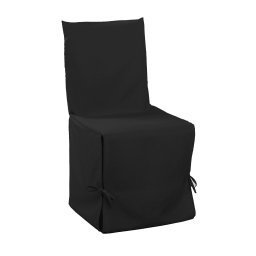 Housse de chaise nouettes 50 x 50 x 50 cm polyester uni essentiel Noir
