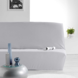 Housse de clic clac 140 x 195 cm polyester extensible nova Gris