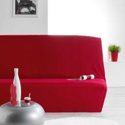 Housse de clic clac 140 x 195 cm polyester extensible nova Rouge