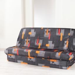 Housse de clic clac 195 x 70 x 65 cm polyester imprime jaya Anthracite