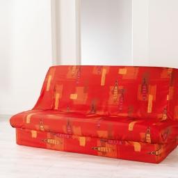 Housse de clic clac 195 x 70 x 65 cm polyester imprime jaya Cuivre