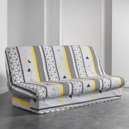 housse de clic clac 195 x 70 x 65 cm polyester imprime yellow mix