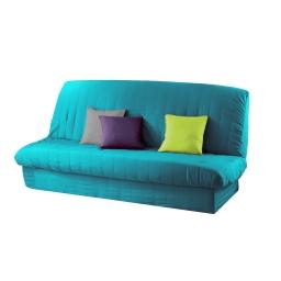 Housse de clic clac mat. 120 à 140 cm - 185 à 200 cm polye. uni essentiel Bleu