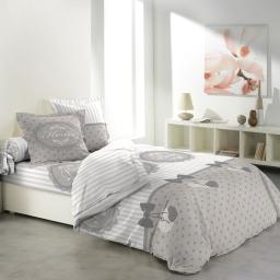 Housse de couette 240 x 220 cm 6 pièces + draps 100% coton 42 fils allover romantic home