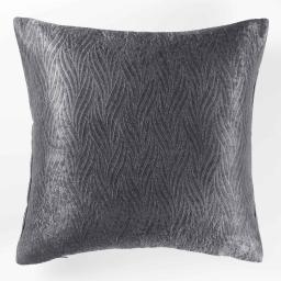 Housse de coussin 40 x 40 cm occultant velours frappe shadow Anthracite