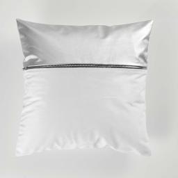 Housse de coussin 40 x 40 cm velours uni aston Blanc