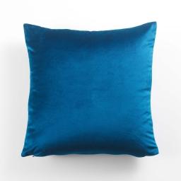 Housse de coussin 40 x 40 cm velours uni swart Bleu