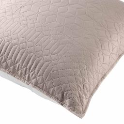 Housse de coussin 45 x 45 cm microfibre bicolore cottage Lin/blanc