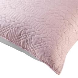 Housse de coussin 45 x 45 cm microfibre bicolore cottage Rose/gris