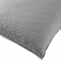 Housse de coussin 45x45 cm microfibre bicolore cottage Anthracite/blanc