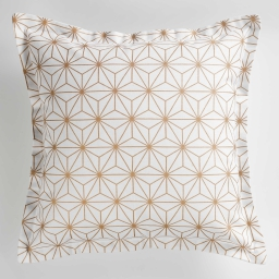 Housse de coussin +encart 40 x 40 cm coton imprime mindy Blanc/Cuivre