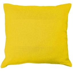 Housse de coussin +encart 40 x 40 cm coton tisse lana Jaune