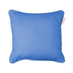 Housse de coussin +encart 40 x 40 cm coton uni panama Azur