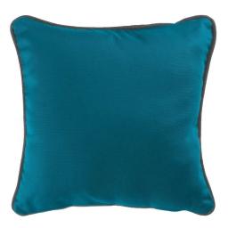Housse de coussin +encart 40 x 40 cm coton uni panama Bleu/Ardoise