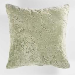 Housse de coussin +encart 40 x 40 cm flanelle relief baroco Kaki