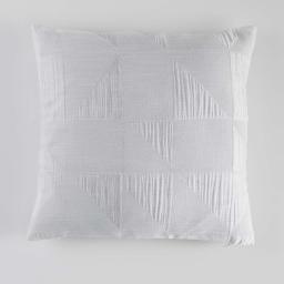 Housse de coussin +encart 40 x 40 cm jacquard victoria Blanc