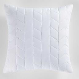 Housse de coussin +encart 40 x 40 cm microfibre unie erika Blanc