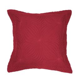 Housse de coussin +encart 40 x 40 cm microfibre unie florencia Rouge