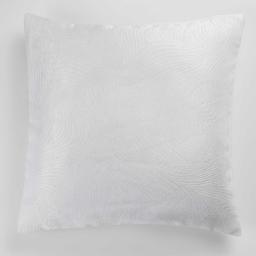 Housse de coussin +encart 40 x 40 cm occultant velours frappe dreamtime Blanc