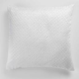 Housse de coussin +encart 40 x 40 cm occultant velours frappe nighty Blanc