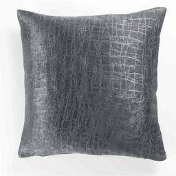 Housse de coussin +encart 40 x 40 cm occultant velours frappe opacia Anthracite