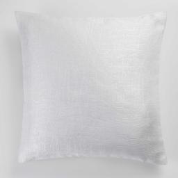 Housse de coussin +encart 40 x 40 cm occultant velours frappe opacia Blanc