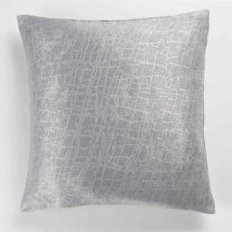 Housse de coussin +encart 40 x 40 cm occultant velours frappe opacia Gris