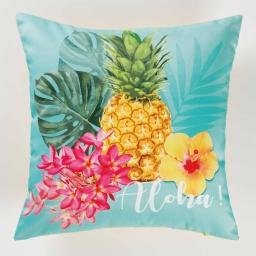 housse de coussin +encart 40 x 40 cm polyester imprime aloha