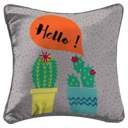 housse de coussin +encart 40 x 40 cm polyester imprime cactus