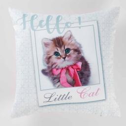 housse de coussin +encart 40 x 40 cm polyester imprime little cat