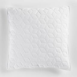 Housse de coussin +encart 45 x 45 cm jersey uni cubix Blanc