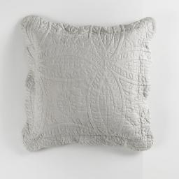 Housse de coussin +encart 45 x 45 cm microfibre unie stony Lin