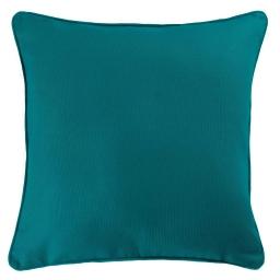 Housse de coussin +encart 60 x 60 cm coton uni panama Bleu