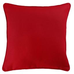 Housse de coussin +encart 60 x 60 cm coton uni panama Rouge