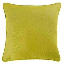 Housse de coussin +encart 60 x 60 cm coton uni panama Vert